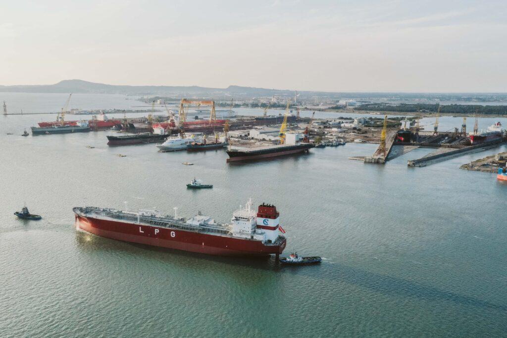Ship Repair - Portugal - drone footage